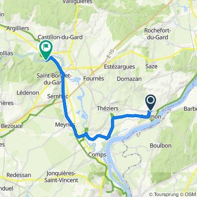 29 Chemin de la Valorière, Aramon nach Pont du Gard, Vers-Pont-du-Gard