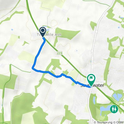 2 Mile Ash Road, Southwater, Horsham to Coachmans, Church Lane, Horsham