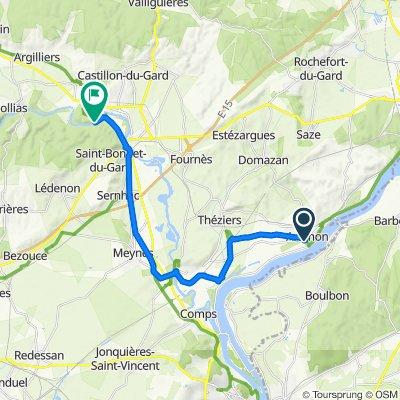 75 Avenue Jean Moulin, Aramon nach Pont du Gard, Vers-Pont-du-Gard