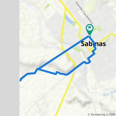 De Avenida Revolución 551, Sabinas a Avenida Revolución 551, Sabinas