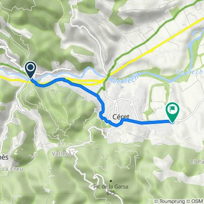 De 1–11 Route de Saint-Paul, Reynès à Route de Maureillas, Céret