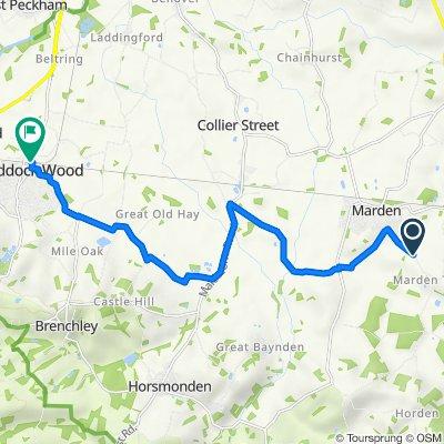 Thorn Road, Marden, Tonbridge to Station Road, Tonbridge