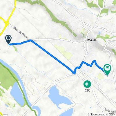 De 18 Chemin de Batan, Lescar à 32 Avenue Roger Cadet, Lescar