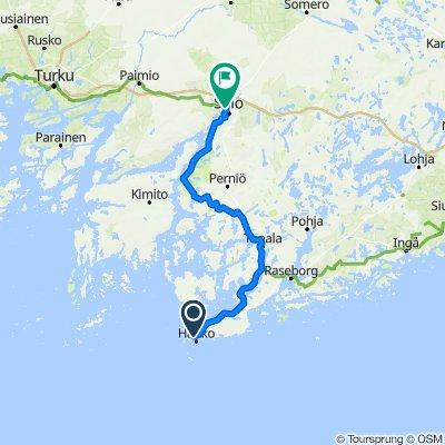 Route from Esplanaadi 69, Hanko