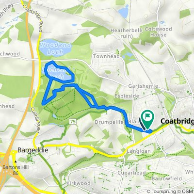 7 Blairgrove Court, Coatbridge to 2 Wood St, Coatbridge