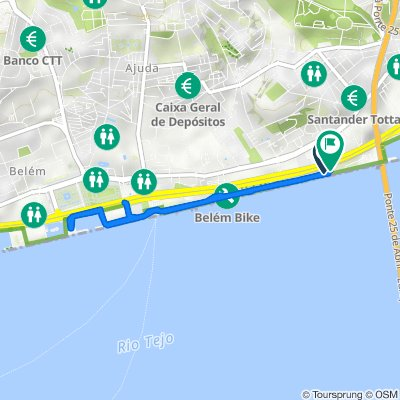 Rua Marginal, Lisboa to Rua Marginal, Lisboa