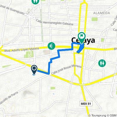 De Paseo de la Hacienda 304, Celaya a Nicolás Bravo 103B, Celaya