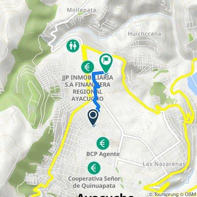 Ruta desde Avenida 26 de Enero 632, Ayacucho