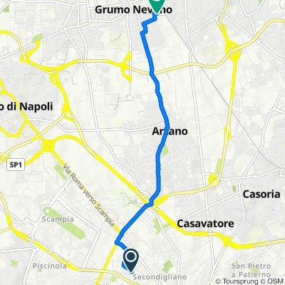Da Via Regina Margherita 66m–68h, Napoli a Via Filippo Turati 30, Grumo Nevano