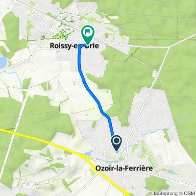 De 2bis Route de Roissy, Ozoir-la-Ferrière à 8 Avenue du Général Leclerc, Roissy-en-Brie