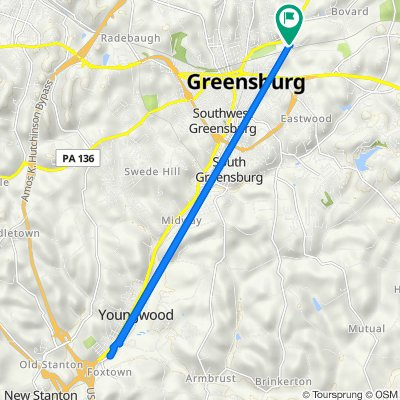 Collier Street 103, Greensburg to Collier Street 103, Greensburg