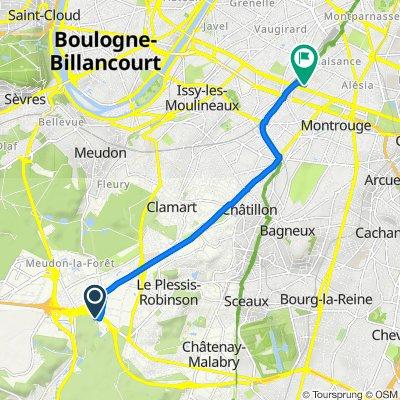 De Rue de la Boursidière, Le Plessis-Robinson à 5 Square Auguste Renoir, Paris