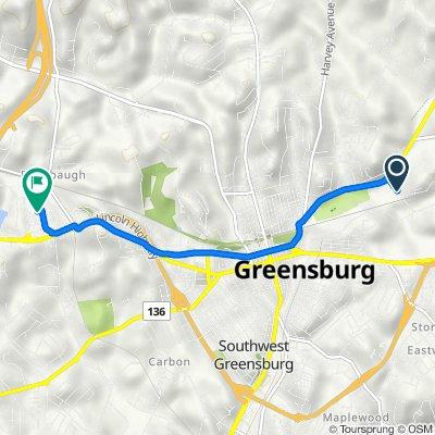Collier Street 103, Greensburg to Greengate Centre / Walmart, Hempfield Township