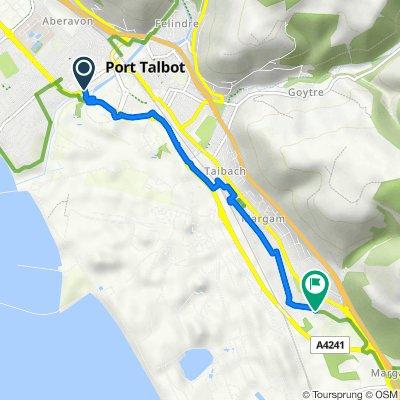 Afan Way, Aberavon, Port Talbot to 7 Abbots Mews, Port Talbot