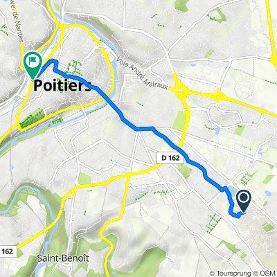 Itinéraire vers 12B Boulevard de Pont-Achard, Poitiers