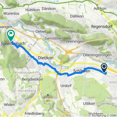 Route nach Althaustrasse 6, Spreitenbach