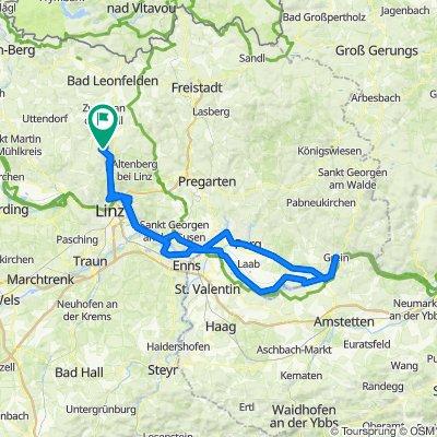 Nobisweg 31, Kirchschlag bei Linz nach Panoramastraße 15, Kirchschlag bei Linz