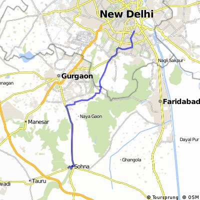 South Delhi to Sohna