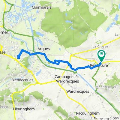 Itinéraire vers D406 8, Renescure
