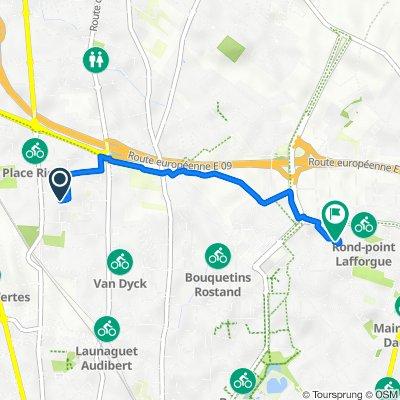 De Avenue de Fronton, Toulouse à 39 Impasse du Lieutenant-Colonel Raphaël Folliot, Toulouse
