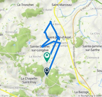De Launay Percé, La Chapelle-Saint-Fray à Thorigné, Sainte-Sabine-sur-Longève