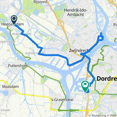 Nijverheidsstraat 13, Heerjansdam naar Mijlweg 83, Dordrecht