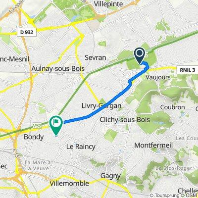De Parc de la Poudrerie, Villepinte à 32 Allée Thérèse, Bondy