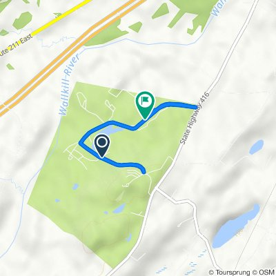 Route from 15 Access Rd, Campbell Hall