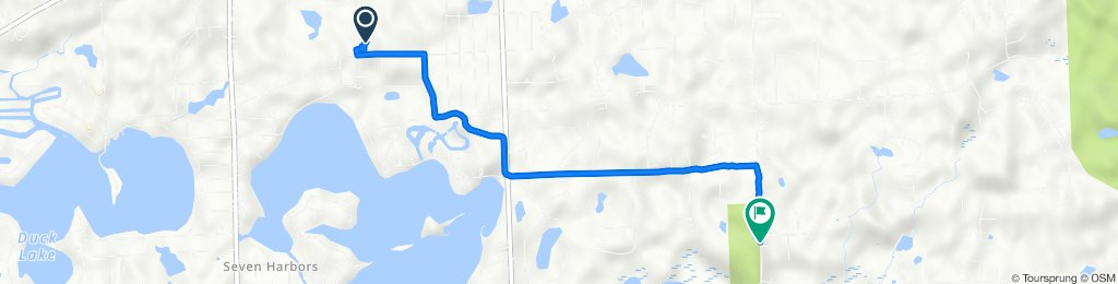 Route from 5050 Eagle Rd, White Lake