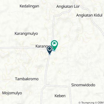 Jalan Kedalingan - Karaban 1, Tambakromo to Jl Karangwono, Tambakromo