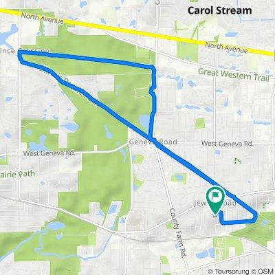 0N101 Pleasant Hill Rd, Wheaton to 0N101 Pleasant Hill Rd, Wheaton