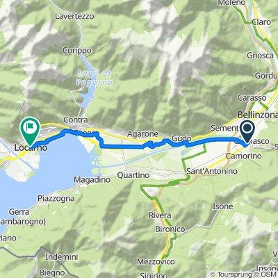 Via Monte Ceneri, Giubiasco nach Piazzetta de' Capitani 3, Locarno