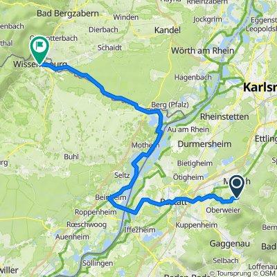 Wissembourg via RA Wintersdorf-Lauterburg
