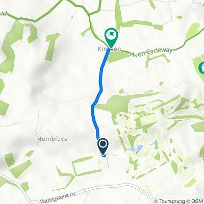 2 Brook Farm Cottages, Mumbleys Lane, Bristol to Kyneton Cottage, Kington Lane, Bristol