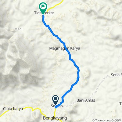 Jalan Bangun Sari 161, Kecamatan Bengkayang to Jalan Raya Sanggau Ledo, Lumar