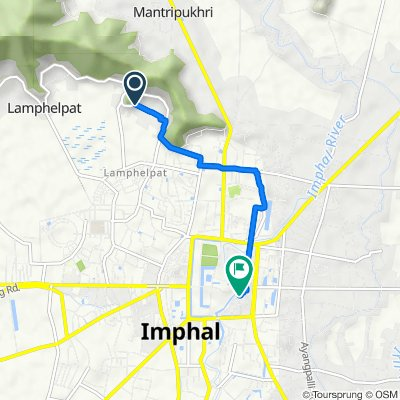 Happy Valley Road, Imphal to New Checkon Road, Imphal