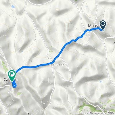 Da Via Giovanni Gambaudo 2, Moasca a Via Regina Margherita 17, Calosso