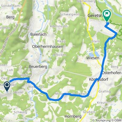 Faistenberg 4, Eurasburg nach Breslauer Weg 69, Bad Tölz-Wolfratshausen, gemeindefreies Gebiet