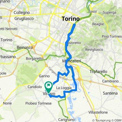 Da Piazza Guglielmo Marconi, Vinovo a Piazza Guglielmo Marconi, Vinovo