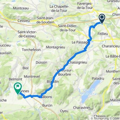 De 788–824 Route du Vernay, Fitilieu à Chemin de Longechenal, Bizonnes