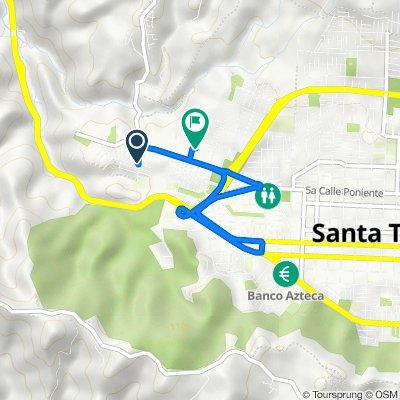 De Avenida Inglaterra, Santa Tecla a Pasaje 4, Santa Tecla