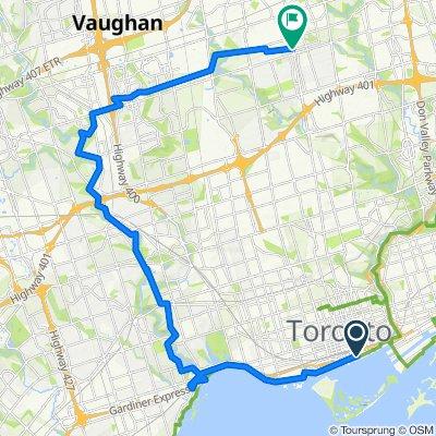 Toronto lakeshore half loop