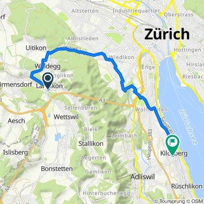 Wettswilerstrasse 22, Birmensdorf ZH nach Schützenmattstrasse, Kilchberg ZH