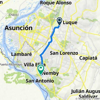 De General Bernardino Caballero, Lúke a Las Palmeras, San Antonio