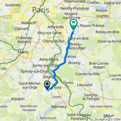 De Rue de l'Écoute S Il Pleut 3, Bondoufle à Avenue du Clos 10, Saint-Maur-des-Fossés