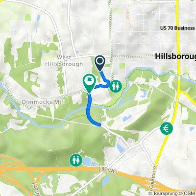 206 S Nash St, Hillsborough to 323–327 Allison St, Hillsborough