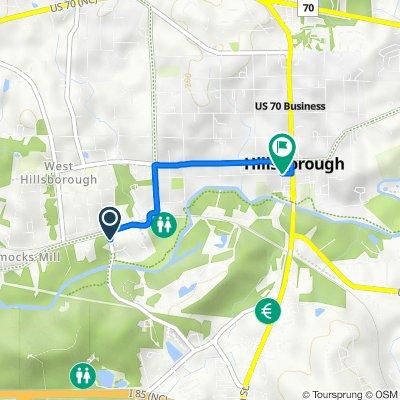 323–327 Allison St, Hillsborough to 128 W Margaret Ln, Hillsborough