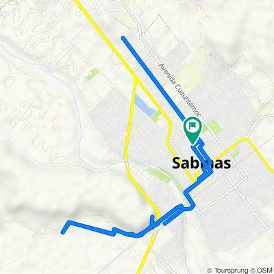 De Avenida Revolución 551, Sabinas a Calle General Santos Degollado 634, Sabinas