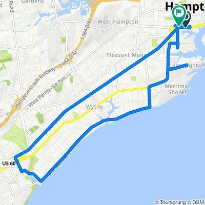 Settlers Landing Road 553, Hampton to South Armistead Avenue 37, Hampton