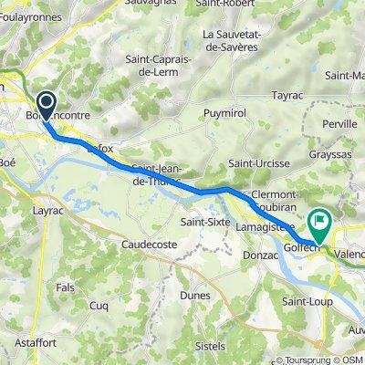 De 10 Rue Les Chemins de Halage Bas, Boé à 6 Chemin d'Orliac, Golfech